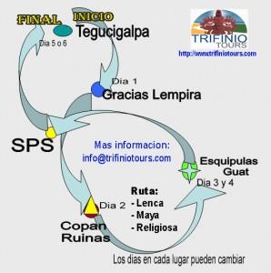 tres rutas
